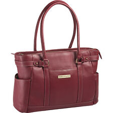 "Clark & Mayfield Hawthorne Leather 17.3"" Laptop Handbag Women's Business Bag NEW"