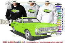 71-72 VH VALIANT CHARGER COUPE HOODIE ILLUSTRATED CLASSIC RETRO MUSCLE CAR