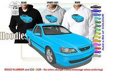 2002-04 BA FALCON XR-8 UTE HOODIE ILLUSTRATED CLASSIC RETRO MUSCLE SPORTS CAR