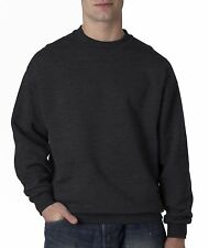 Jerzees Men's Super Sweats Crew Neck Solid Long Sleeve Sweatshirt 4662