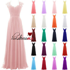 New Stock Long Formal Wedding Bridesmaid Dress Evening Party Prom Ball Gown 6-18