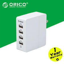 ORICO New 4 ports Travel Wall Charger USB US EU Adapter For Apple iPhone Samsung
