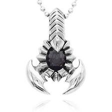 Men's Punk Rock Scorpion King Stainless Steel Pendant Necklace Silver/Gold