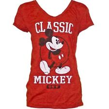 Disney Womens Fashion T-Shirt Top Mickey Mouse Classic Red