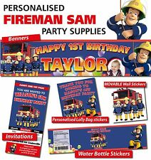 Personalised Fireman Sam Birthday Party Banners Decorations and Supplies