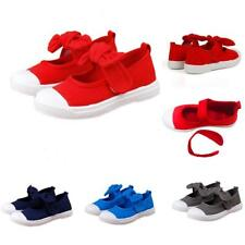 Cute  Mary Jane Flats Canvas Shoes Plimsolls for Kids Girls Boys