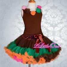 Set Pettitop & Pettiskirt Skirt Petticoat Top Tutu Party Pageant Girl Sz 2-8 102