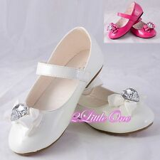 Rhinestone Mary Janes Formal Shoes US Size Toddler 10- Youth 3.5 EU 26.5-35 #010