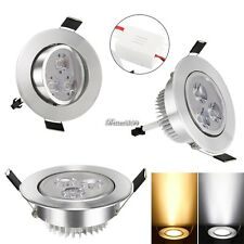 9W LED Recessed Ceiling Light Downlight Spot Lamp Warm/Cool White AC 85-265V