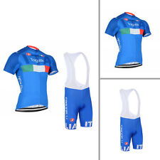 Cool Mens Riding Short Sleeve Jersey Bib Shorts Kit Uniform Fit S M L XL 2XL 3XL