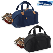BAGBASE VINATGE STYLE OVERNIGHTER BAG CARRY HANDLES GYM DUFFEL TRAVEL LUGGAGE