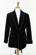 Smoking Jacket - NAVY Velvet - Smoking Robe