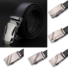 Men Casual Business Leather Automatic Buckle Belt Waist Strap Belts Waistband
