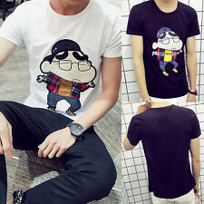 Mens Teens Fashion Summer Casual Top Blouse Anime Cosplay Short Sleeve T-Shirt