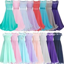 Chiffon Girls Junior Flower Party Formal Wedding Bridesmaid Princess Prom Dress