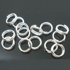 Lots Silver Plated Double Loop Split Open Jump Rings Connector Findings 4-14MM