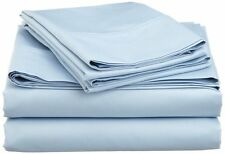 Comfort bedding 1000 TC 100% Egyptian Cotton Bed Sheet Set Light Blue Solid
