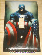 Captain America Light Switch & Duplex Power Outlet Single Double Cover Plate