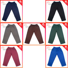Boys Girls Kids Fleecy Fleece Elastic Waist School Uniform Track Pants Trousers