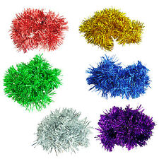 2M/6.5 Ft Christmas Tinsel Tree Decorations Tinsel Garland Silver SK