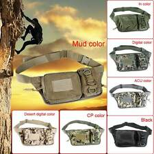 Outdoor Multi-pocket Tactical Zipper Running Fanny Pack Waist Belt Bum Bag Fine