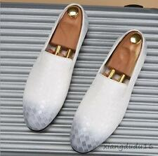 Summer Men's Wing tip Leather Dress Formal Slip on Casual Gommino Loafers shoes