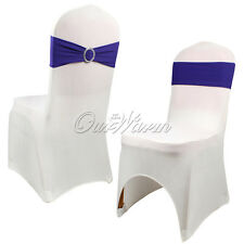 19 Colors Spandex  Lycra Chair Cover Bands Sashes Bow Wedding Party Event Supply