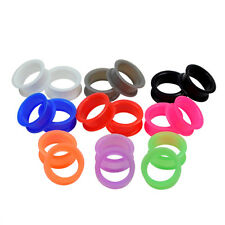 1 Pair Large Flare Silicone Ear Skins-Ear Gauges Soft Ear Plugs Ear Tunnels CN