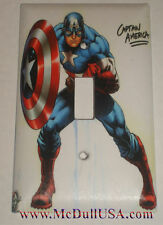 Captain America Light Switch Power Outlet Cover Plate Home decor + more