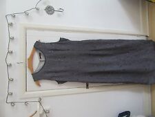 Grey Evening Dress With Stunning Embroidery and Beads Size 16