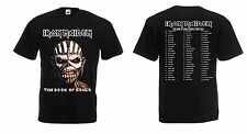 New Iron Maiden Book of Souls 2016 Tour Screen printed Black T-shirt