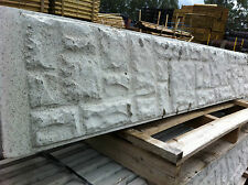 Concrete Fence Gravel / Kick Board - Smooth/Rock Face DELIVERY 50 MILES BOSTON