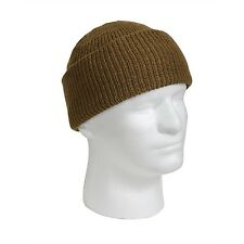 MILITARY WATCH CAP 100%WOOL Made in USA Black-Oive-Navy-Tan One Size Fits All