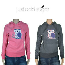 Just Add Sugar Womens Branch Owl Hoody Graphic Hoodie Pullover Winter Jumper