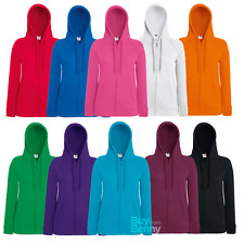 Fruit Of The Loom FOTL Lady-Fit L/weight Hooded Sweat Jkt (62150)