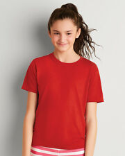GILDAN CHILDREN'S T-SHIRT TOP WICKING SPORT RUNNING FOOTBALL COLOURS BOYS GIRLS
