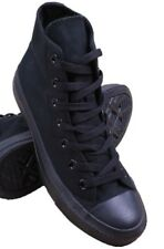 """SNEAKERS CANVAS Mens SHOES BASKETBALL HI TOP 5"""" ALL BLACK SIZES 6.5 TO 12"""
