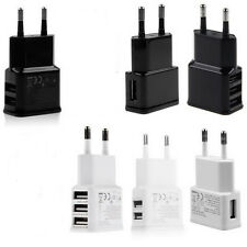 1A/2A AC USB Power Wall Charger Adapter Travel EU Plug For Samsung iPhone HTC GB