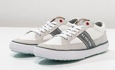 US POLO ASSN SNEAKERS SCARPE LACE-UP MAN SUEDE CANVAS LEATHER FABRIC WHITE