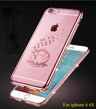 bling shell TPU diamond case Silicone crystal Soft cover for iphone 6 6S / plus