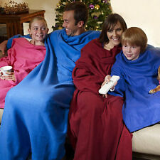 Lifine Cuddle Blanket Throw Snuggle with Sleeves Snuggie TV Fleece