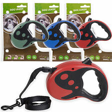 3m Extending Dog Leash Cord Automatic Retractable Walking Pet Lead Tether Halter