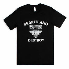 Punk Rock T Shirt - Search And Destroy  British Flag Union Jack Retro Music Band