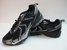 Mens Karrimor Pace Run Running Shoes Black Silver Lace Up Trainers