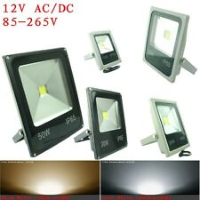 Cool Warm White 10W 20W 30W 50W LED Flood Light 12V 240V Outdoor Floodlight AU