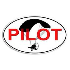 Powered Parachute Sticker - Pilot Decal Paraglider Flying
