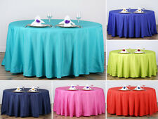 """15 pcs Wholesale Lot 108"""" ROUND POLYESTER TABLECLOTHS Wedding Party Decorations"""