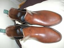 PAIR OF AIGLE SHORT BROWN RIDING BOOTS SIZE 5