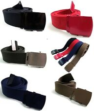 """Ladies Womens Mens High Quality Cotton Canvas belt Strong fits upto size 18 44"""""""