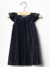 NWT BABY GAP Girls Navy Sparkle Festive Flutter Pleated Party Dress 12 24 NEW